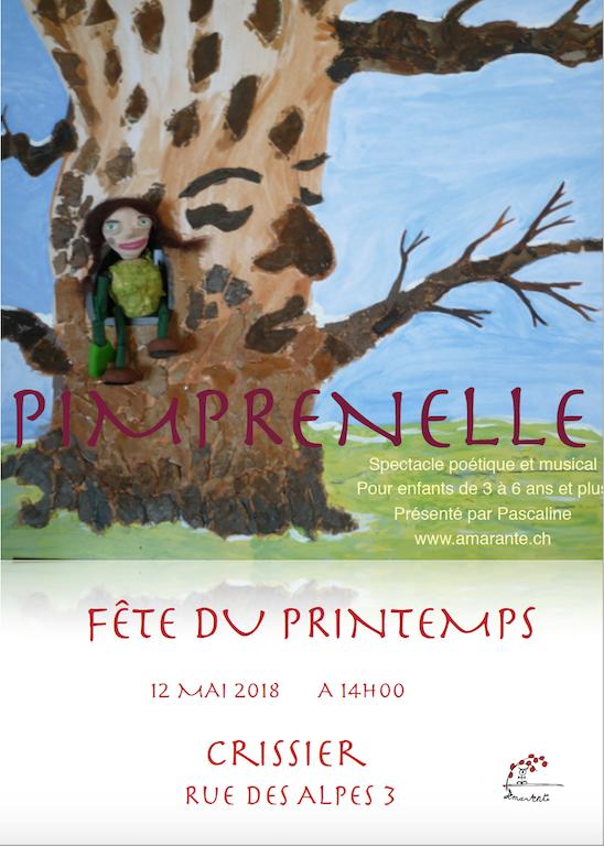affiche Pimprenelle marionnette Amarante