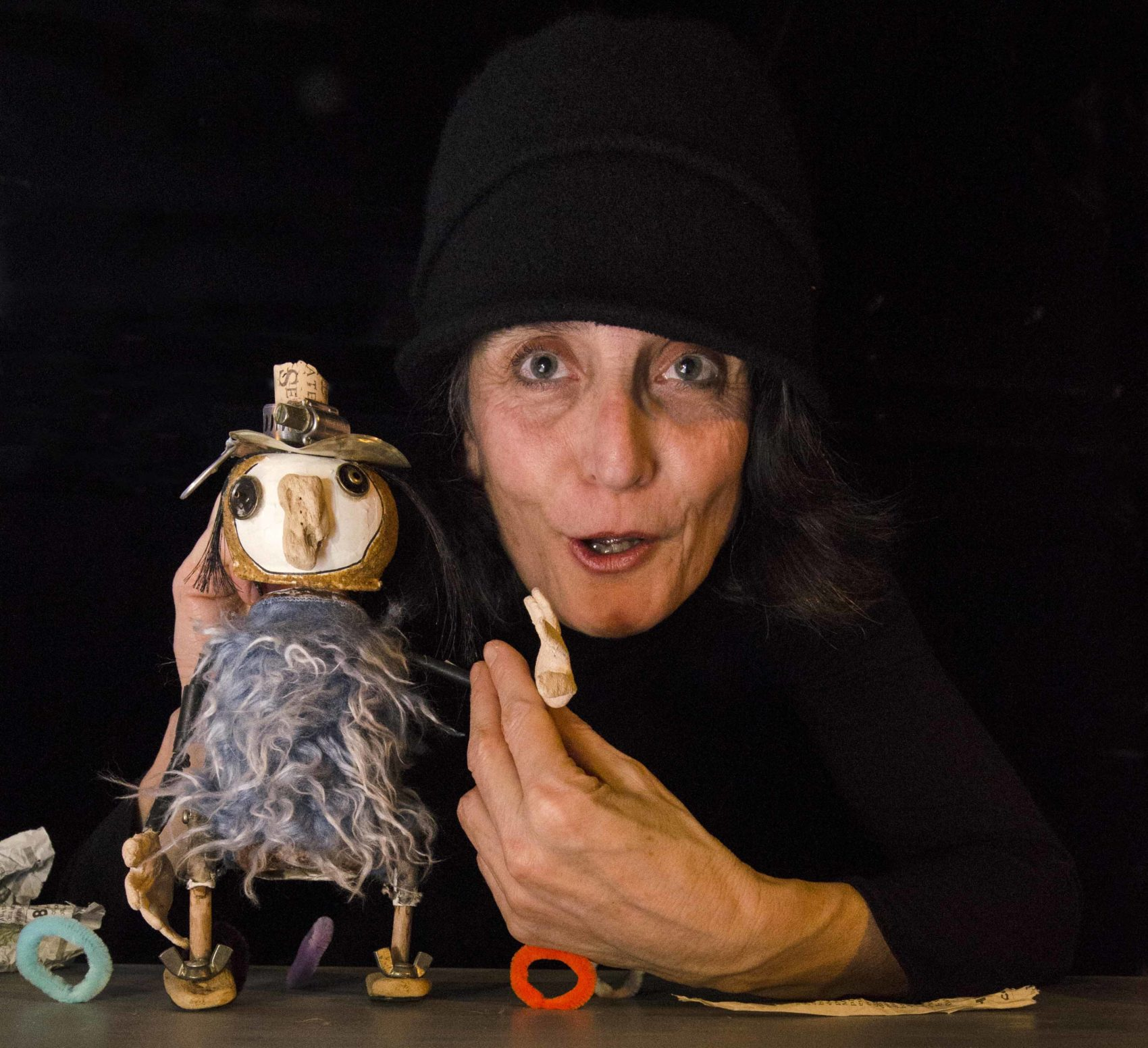 Les marionnettes Amarante Jackou le hibou